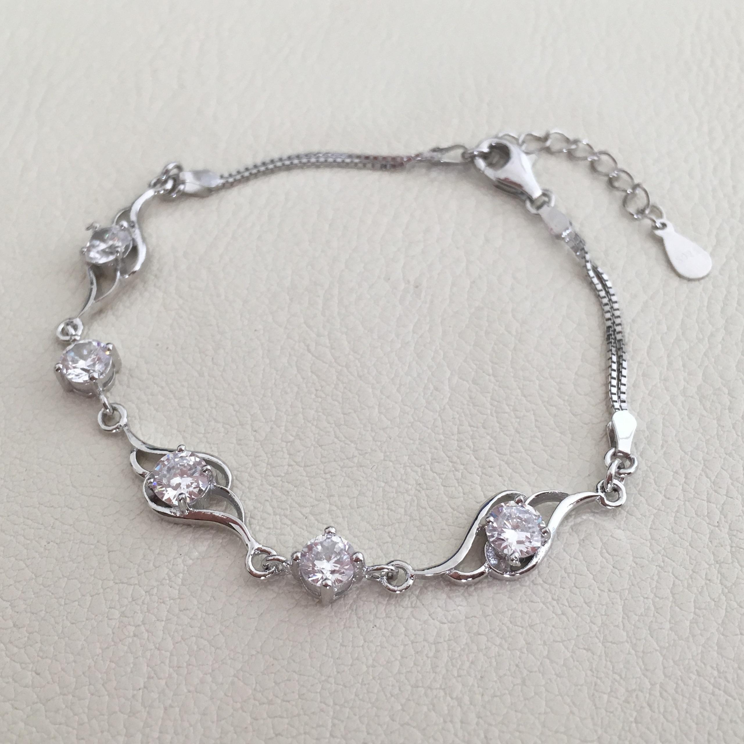 zilveren armband engel vleugels met zirkonia s925