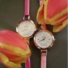 Chic dames PU band koppel horloge