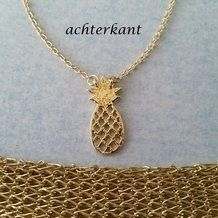 gouden-ketting-gold-plated-ananas