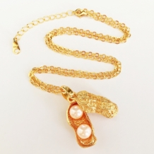 gouden-ketting-pinda-gold-plated